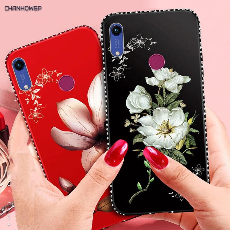 Роскошный чехол с объемным цветком для Huawei Honor 8C 8A 7C 7A P30 P20 Lite Pro Cover Mate 20 P Smart LYO-L01 Y7 Y6 Prime 2019 Y5