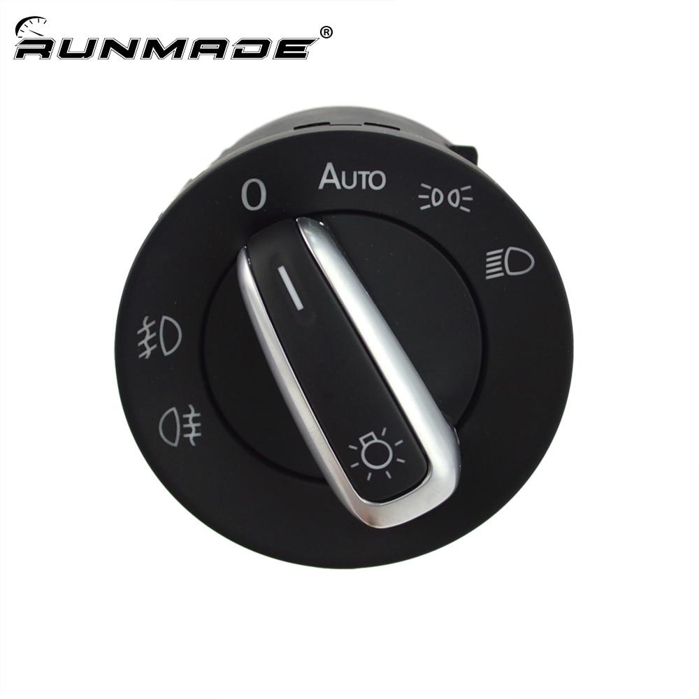 Runmade-interrupteur de phare automobile   Commande de phare automatique et de brouillard 5ND 941 431 B, pour VW Passat CC B6 Golf Jetta MK5