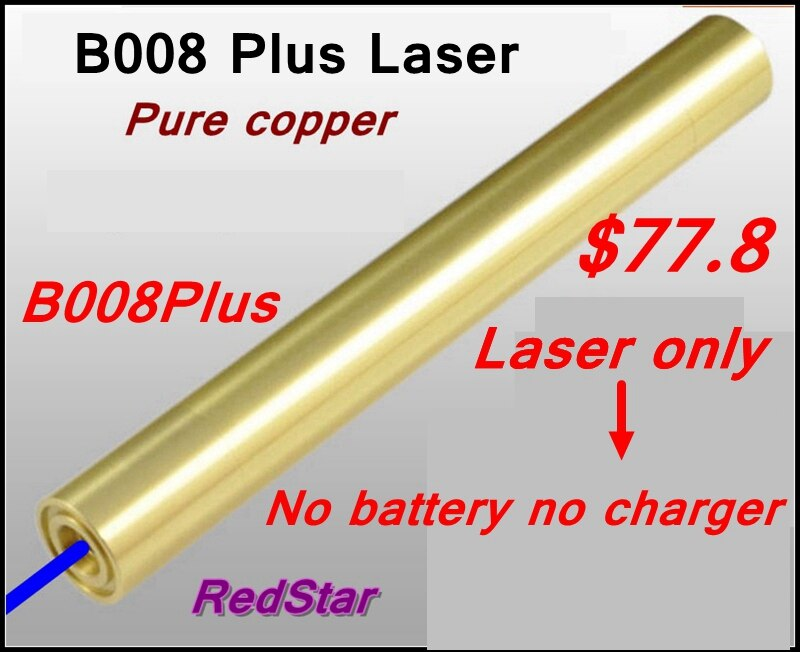 [ReadStar] B008Plus puntero láser azul pluma láser de alta quemadura combina con láser de cobre puro solo sin batería y cargador 16340