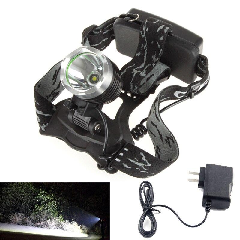 1800lm à prova dwaterproof água cree xm-l t6 3 modos brilho led farol cabeça lâmpada luz + carregador ac para esporte ao ar livre