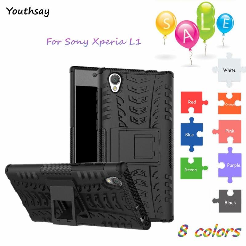 Youthsay para capa sony xperia l1 caso para sony xperia l1 silicone armadura capa para coque sony l1 caso g3312 g3311 5.5 polegada