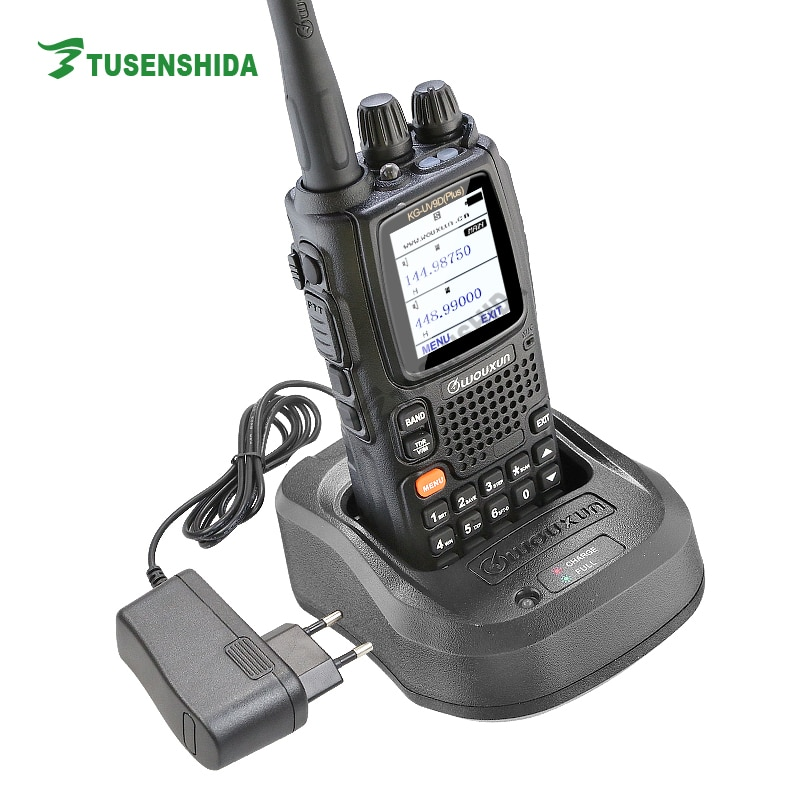 New Arrival Dual Band TX 136-174/400-512MHZ Seven Band Reception Cross Repeat Walkie Talkie WOUXUN KG-UV9D Plus