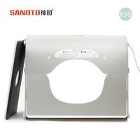 LED photo studio Professional Portable Mini Kit Photo Photography Studio Light Box SANOTO Softbox k50 for 220/110V EU US UK AU