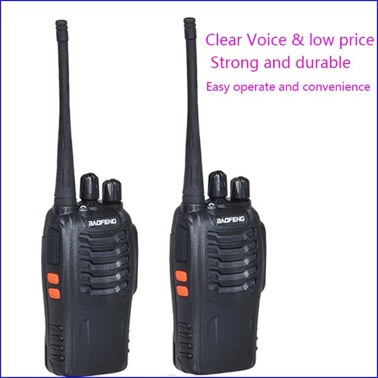 Walkie Talkie con Radio bidireccional, bf-888s inalámbrico, baofeng 888s con UHF400-470MHz, habla de paseo, Radio, comunicador CB 2 piezas