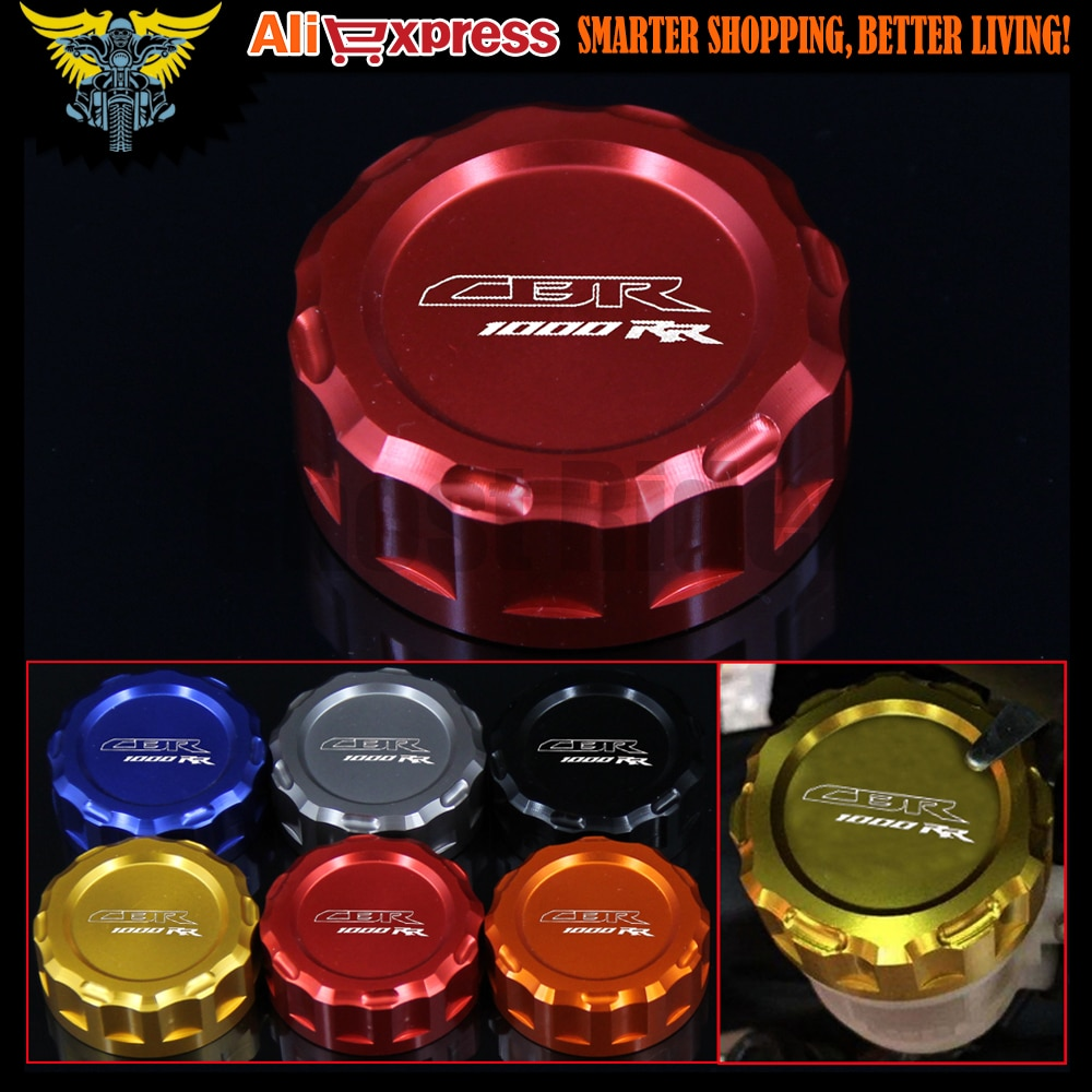 Motorcycle CNC Rear Brake Fluid Reservoir Cover Cap For Honda CBR 1000 RR/CBR 1000 RR C-ABS 2008-UP 2012 2013 2014 2015 2016