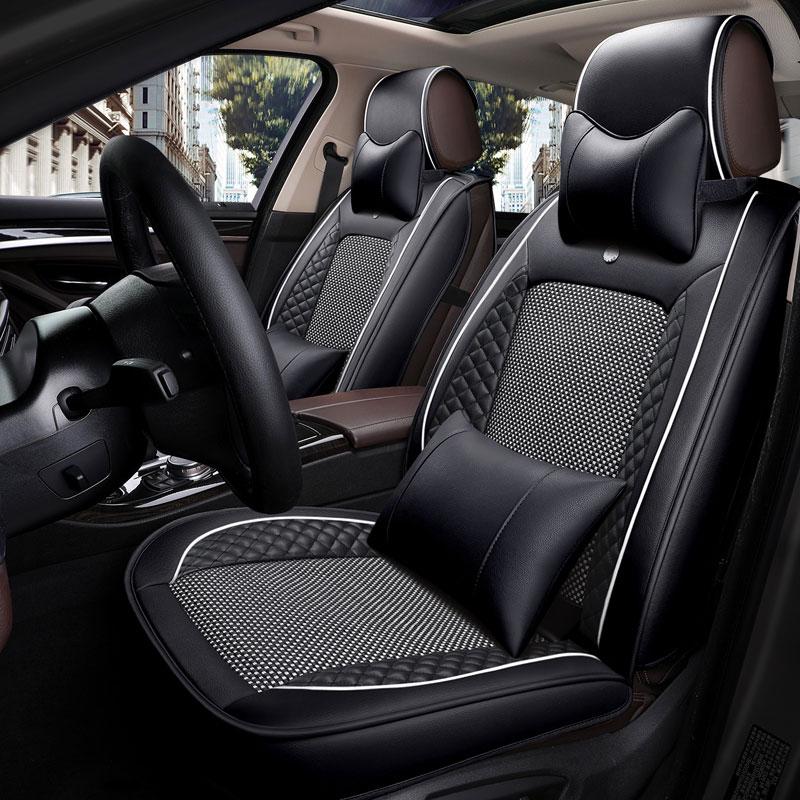 Couro capa de assento do carro universal almofada de assento para fiat punto punto evo seicento siena stilo tempra