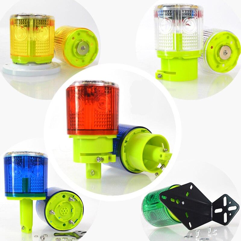 A prueba de lluvia, controlado ópticamente, sin interruptor, lámpara Solar de alarma, luz, señal de seguridad, baliza de emergencia, lámpara de alarma de tráfico, Luz