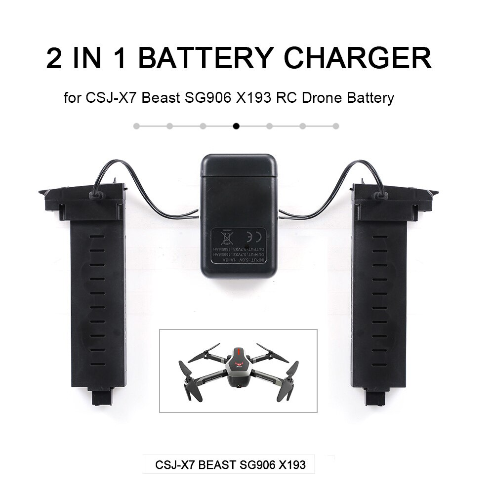 Big desconto! 2 em 1 zangão carregador de bateria para CSJ-X7 besta sg906 x193 carregamento rápido rc acessórios peças presente