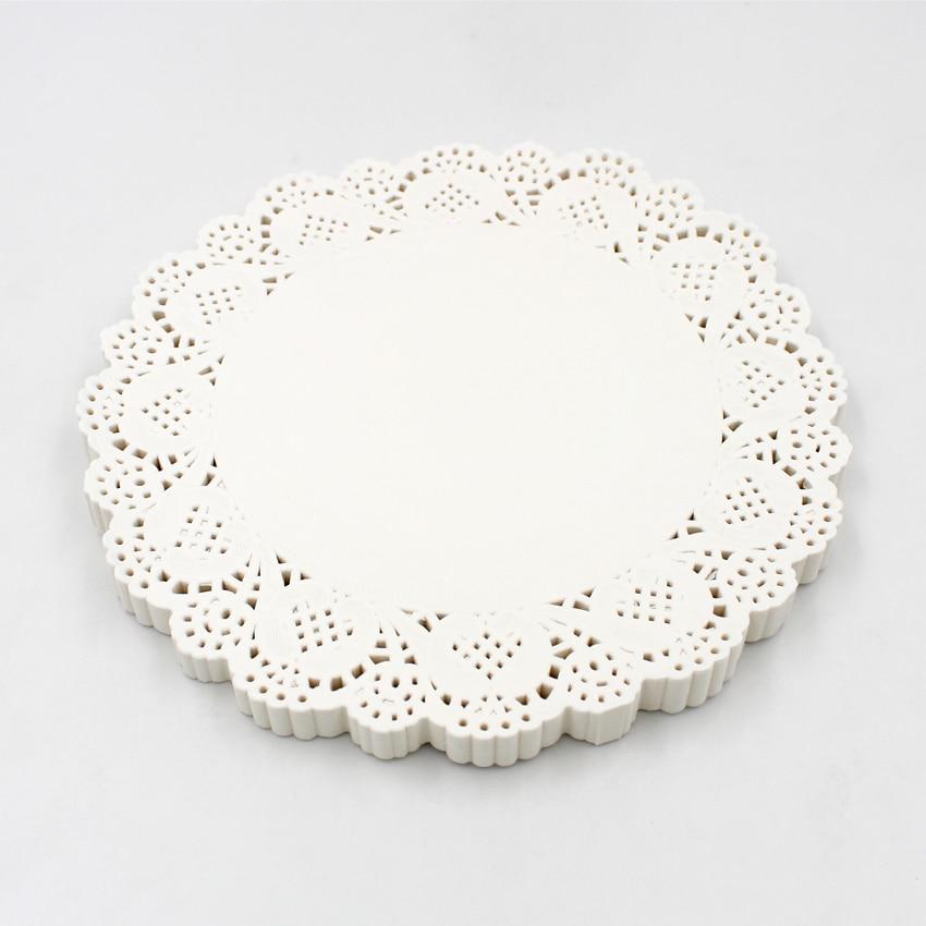 140 фотообои, белая фотография, украшение для стола, Круглый бумажный коврик для выпечки тортов, печенья
