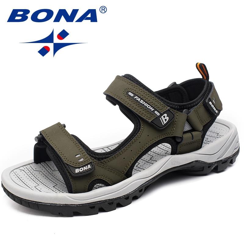 بونا صنادل رجالية تصميم كلاسيكي جديد أحذية صيفية للمشي في الهواء الطلق أحذية شاطئ مضادة للتزلق مريحة للرجال شحن مجاني
