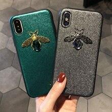 Diamante Bee Soft Case Para o iphone 11Pro 7 8 6 6s Plus X XR XS Max Para Samsung S10 S9 S8 Plus A70 A50 A40 A30 A20 M20 M10 Note10