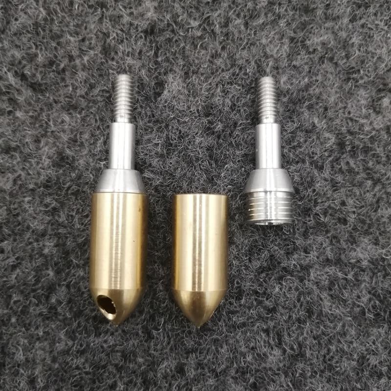 1 ud. De silbato de tiro con arco de cobre, punta de flecha de grano 125, puntas de flecha tradicionales, tornillo en la caza de flechas