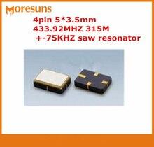 Freies verschiffen über DHL/EMS 1000 teile/los Neue R433A SMD5035 4pin 5*3,5mm 433,92 Mt 433,92 MHZ 315 Mt +-75 KHZ saw-resonator