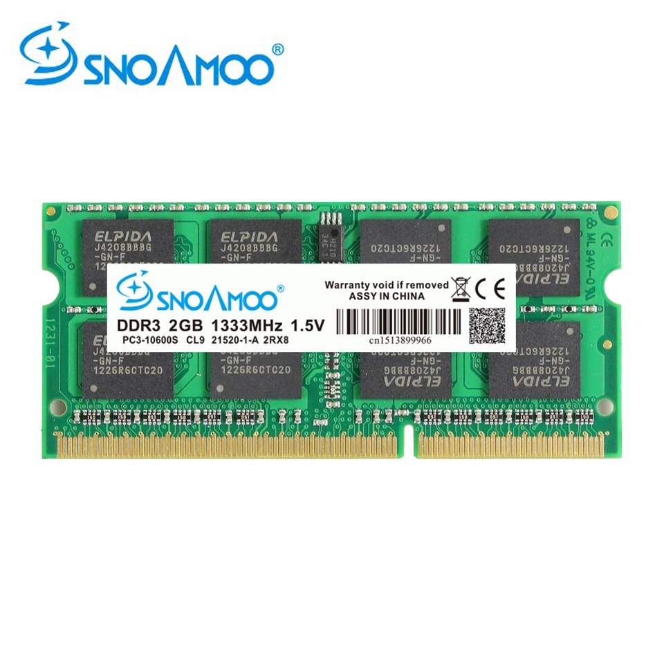 SNOAMOO ноутбук RAMs DDR3 2 ГБ 4 ГБ 1333/1600 МГц PC3-10600S 204 Pin 1,5 V 2Rx8 SO-DIMM гарантия памяти компьютера