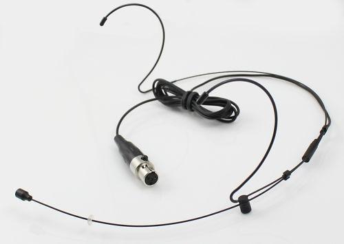 High Qulity Black Dual Hook Mic Headset Head Microphone 4Pin XLR mini For Shure Wireless TA4F