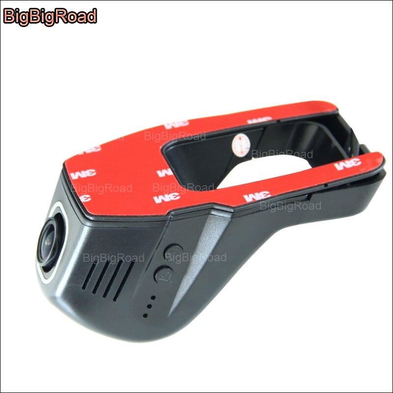 BigBigRoad para TOYOTA Prado APP Control wifi para coche DVR instalación oculta grabadora de Video Novatek 96655 cámara de salpicadero