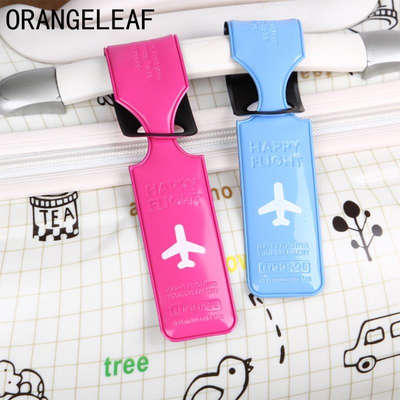 PVC funda de equipaje de viaje ID Nombre Dirección identificación etiquetas correas maleta Etiquetas de embarque de equipaje avión accesorios de viaje