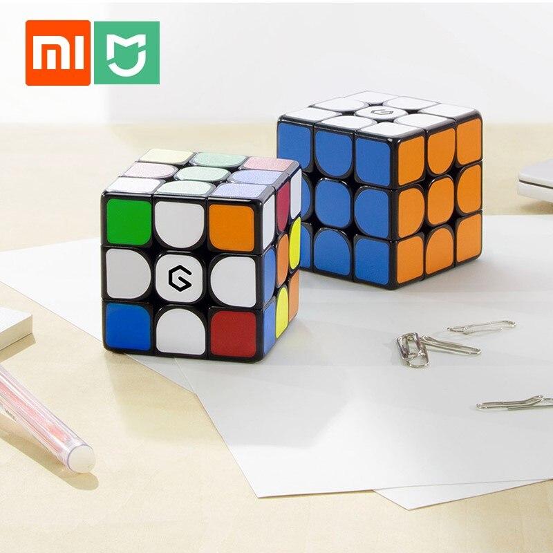 Xiaomi cubo magnético giiker m3, cubo de força aprendizado com o aplicativo, quebra-cabeça de descompressão, brinquedo profissional portátil rubik