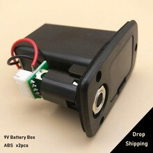 2pcs 9V Guitar Pickup Battery Case Box Holder Black for Electric Acoustic Guitar Bass Storage Cover