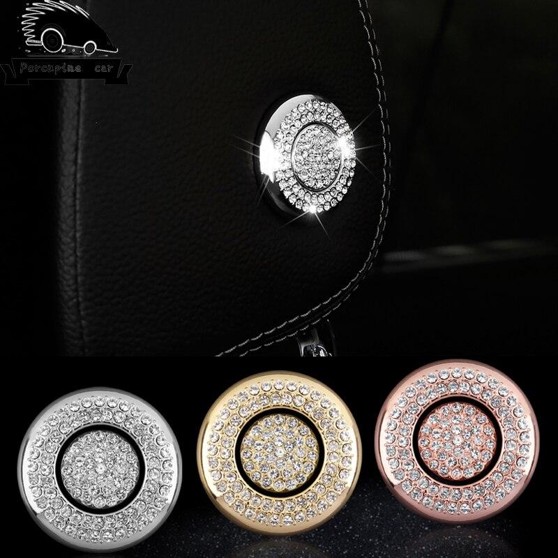 Car Seat diamond Button Lift Bumper Sticker Cover for Mercedes Benz GLC260 E300 New E class C Class ML GL GLE GLS Car Type