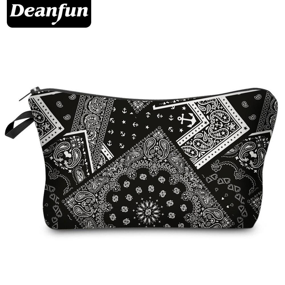 Косметичка Deanfun H81, винтажная, с 3D принтом, из полиэстера, для путешествий