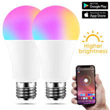 Wireless Bluetooth-Compatible 4.0 LED Smart Light Bulb RGBW Daylight Lamp APP Control E27 Color Dimmable IOS /Android Magic Home