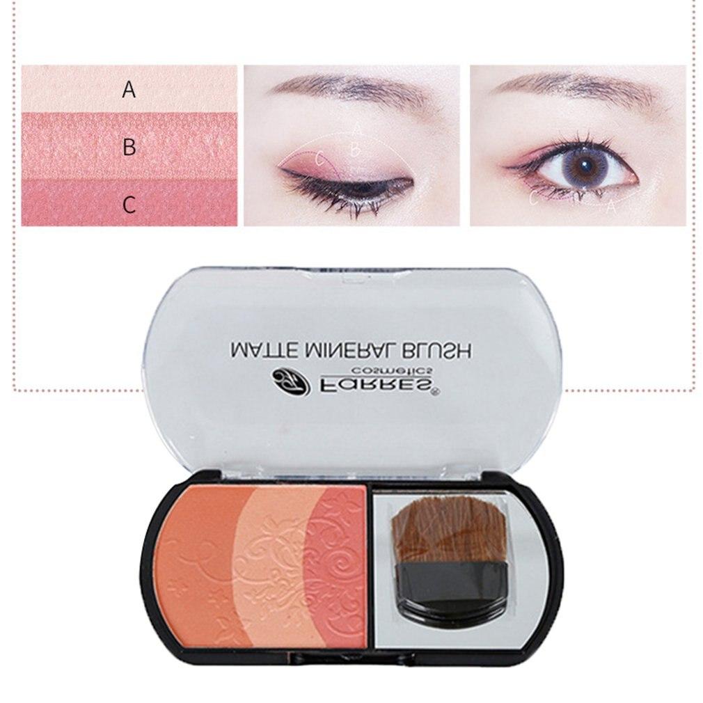 Maquillaje con rubor Natural, paleta de rubor para hornear, rubor en polvo, rubor, sombra de mejillas en 3D, Cosméticos de belleza elegantes