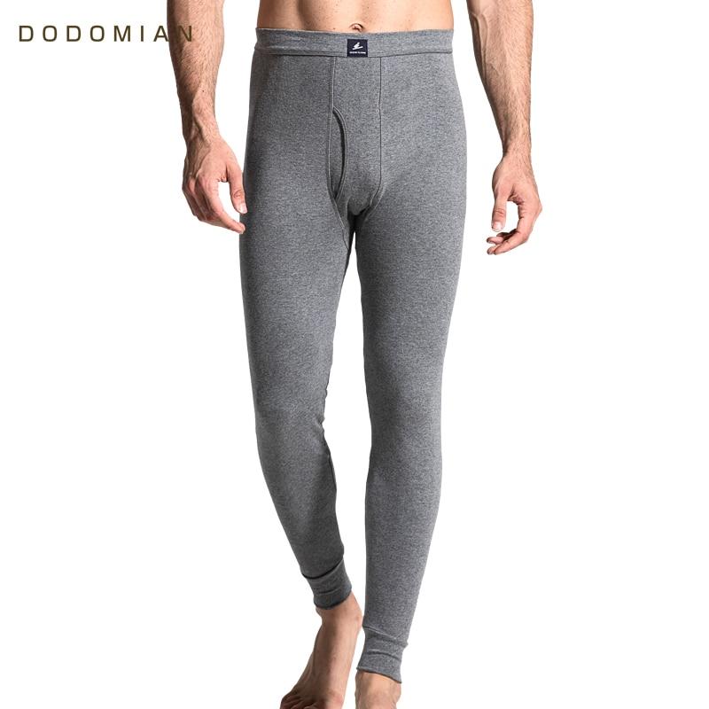 Invierno largo Johns sólido algodón ropa interior térmica pantalones suave cálido Delgado térmico hombres mallas calzoncillos Sous Vetement Homme L-XXXL