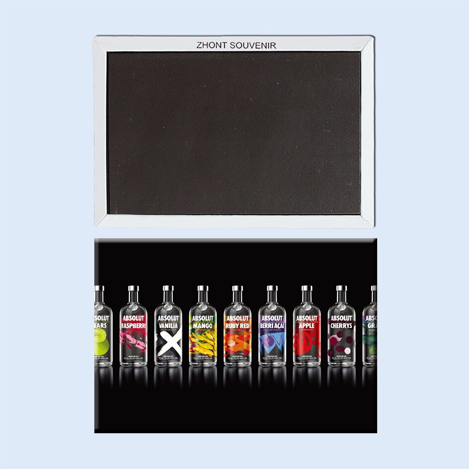 Marcas a gama de sabores de absolut vodka 22547 presentes para amigos paisagem geladeira magnética lembranças de viagem