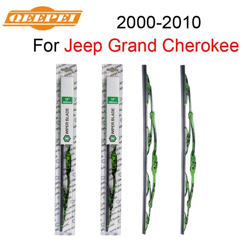 QEEPEI EIN Paar Wischer Klinge Für Jeep Grand Cherokee 2000-2010 21 + 21 Hohe Qualität Natürliche Gummi sauber Frontscheibe M08
