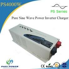 4000w 24v 48v cc à ac 110v 220v 230v pur onduleur à onde sinusoïdale avec chargeur 1 commande