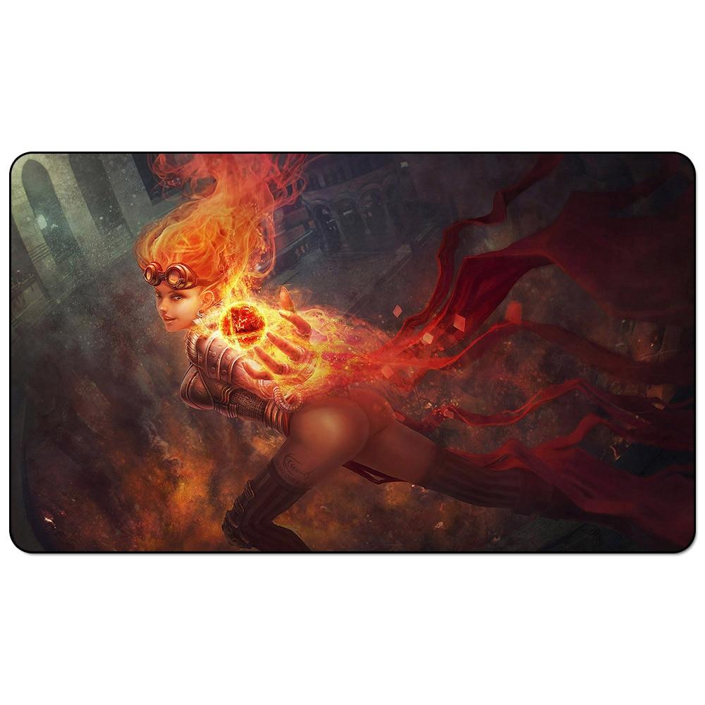 Jogo de tabuleiro mágico pyromaster tcg mgt playmat liliana chandra tapete de mesa do rato
