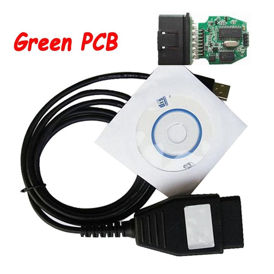 Câble de Diagnostic automatique   PCB vert pour Ford VCM OBD programme de Diagnostic FoCOM Interface VCM OBD2 pour voiture 1996 ~ 2010