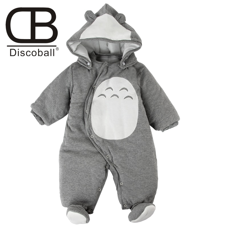 Newborn Clothes baby rompers one-piece thick hooded warm in autumn winter romper animal style Totoro for girl boy