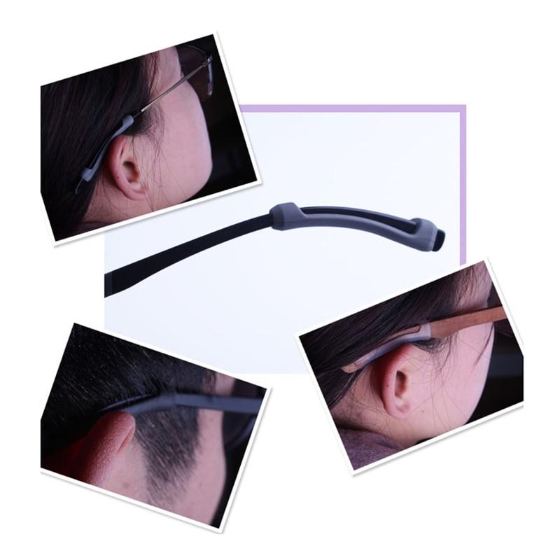 Newly Eyeglass Temple Tips Sleeve Retainer Silicone Anti-slip Holder Elastic Comfort Glasses Ear Hook