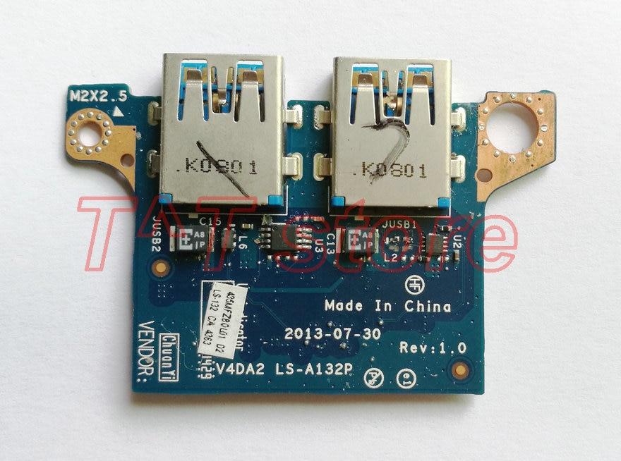 Original para Acer Travelmate P645 usb 3,0 placa V4DA2 prueba de LS-A132P buen envío gratis 435MFZB0L01
