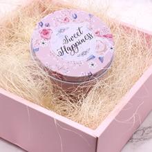 Relleno de caja de regalo de Yute natural decoración de flores secas y relleno de protección caja de suministros de llenado de Material de embalaje de dulces de boda