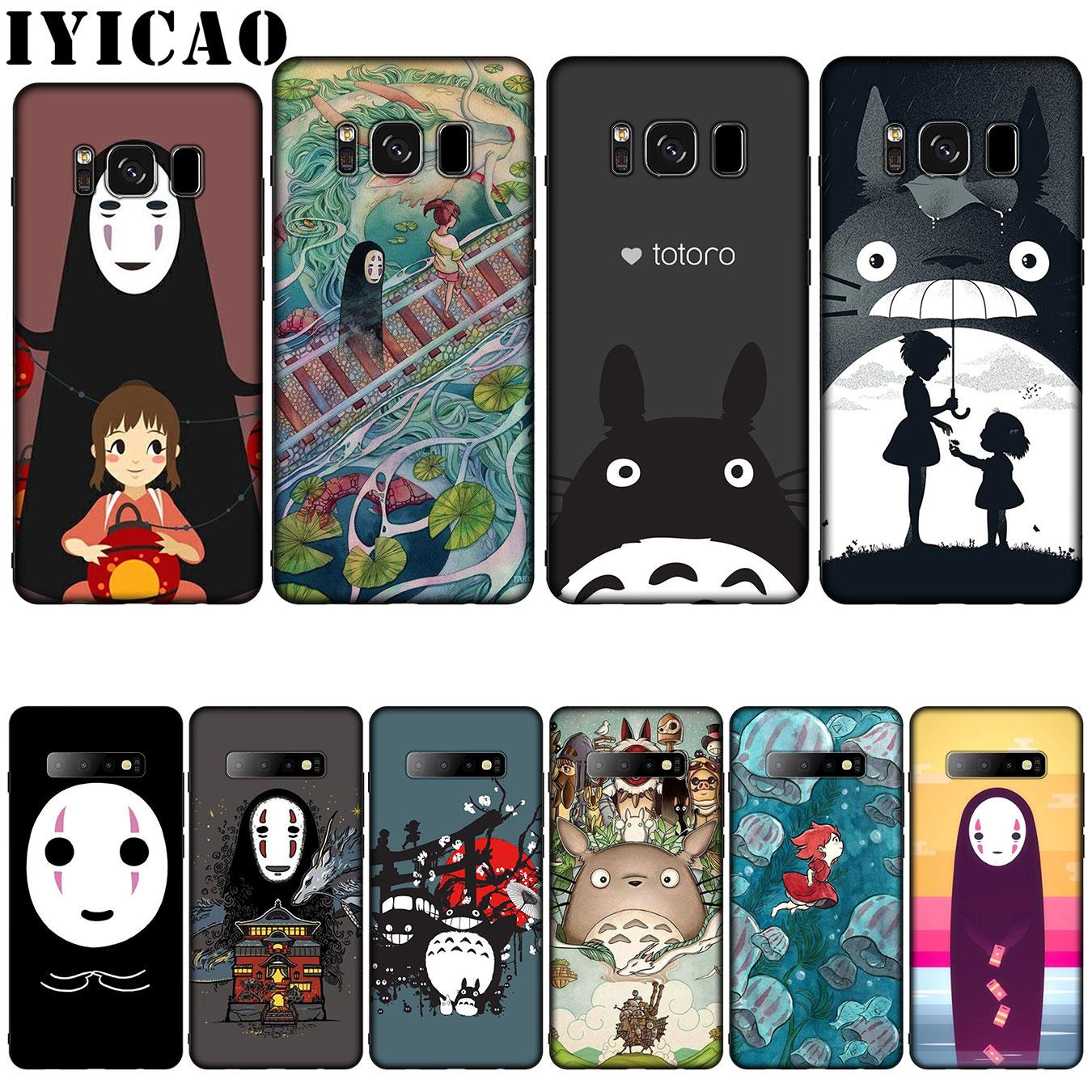 Totoro Chihiro Ghibli Miyazaki Anime de silicona suave funda para Samsung Galaxy S20 S10 S9 S8 Plus Lite Ultra S6 S7 borde S10e E