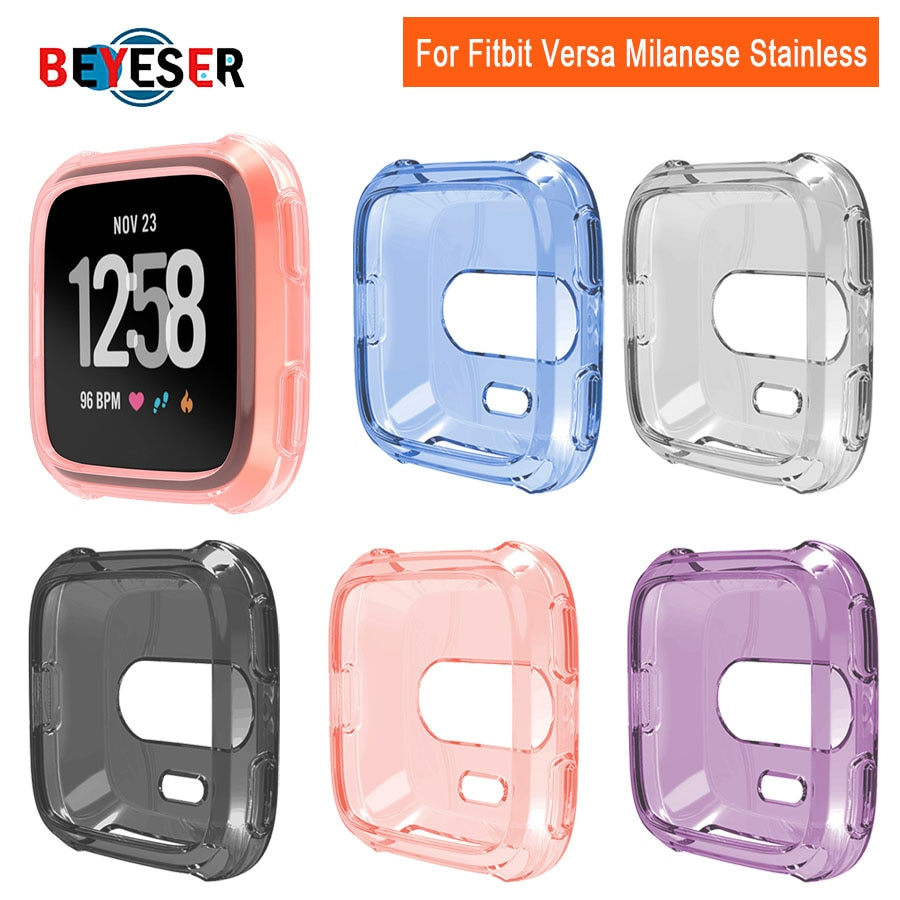 Ultra-thin Soft  TPU Case Cover For Fitbit Versa Versa 2 Full Protection Silicone Cases wearable devices Smartwatch Protector