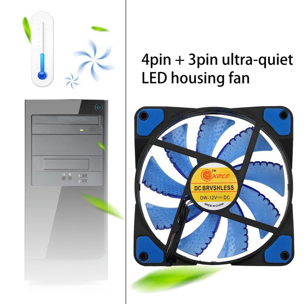 120x120x25 мм LED ультра тихий компьютер PC Корпус Вентилятор 15 светодиодов 12В с резиновым тихим разъемом Molex легко установленный вентилятор