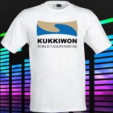 Nouveau Kukkiwon World Taekwondo siège hommes T-Shirt blanc taille S à 2XL hommes de haute qualité t-shirts mode T-Shirt marque