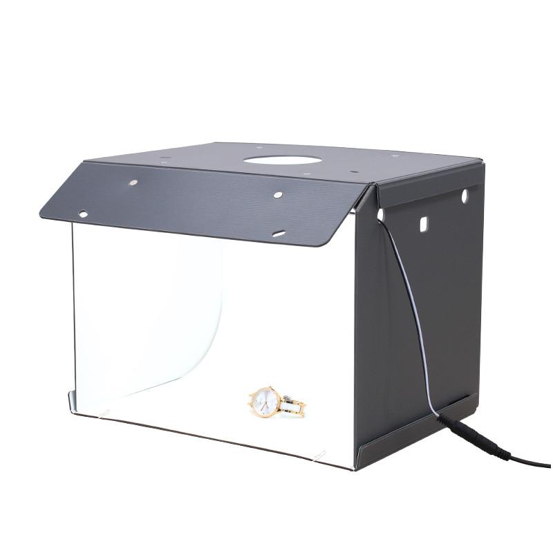 New SANOTO  Mini Photo Studio Box Photography Backdrop  portable Softbox LED Light Photo Box fold Photo Studio Soft Box