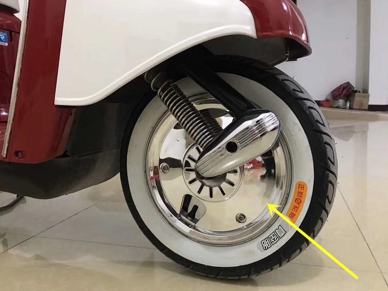 Motorcycle Accessories For Honda Yamaha Suzuki motorcycle scooter chrome wheel cover 10-inch drum brake wheel installation