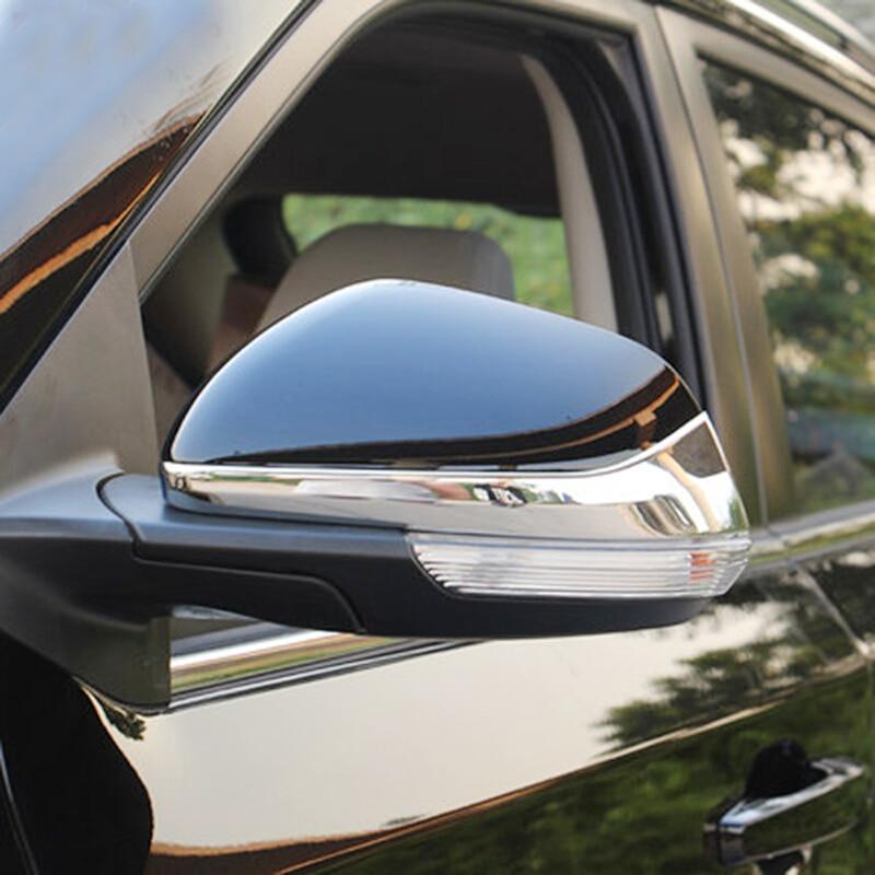 ABS cromado para MG GS 2015 2016 2017 decoración de espejo retrovisor de coche tira embellecedora Accesorios Estilo de coche 2 uds