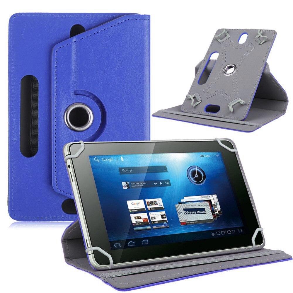 """Myslc PU Funda de cuero para BQ-1083G armadura Pro Plus BQ-1077L armadura PRO LTE 10,1 """"360 grados de rotación Universal Tablet"""