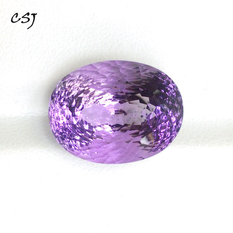 CSJ-جمشت طبيعي أصلي ، أحجار كريمة سائبة ، 13 × 17 مللي متر ، 14 قيراط ، مقعر ، لامع ، قطع علوي من الذهب والفضة عيار 925 ، مجوهرات راقية