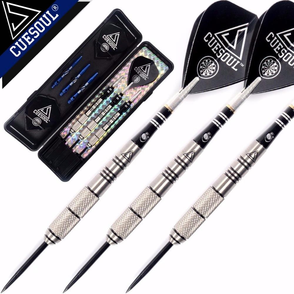 CUESOUL Free Shipping 90% Tungsten 22g/24g/26g Steel Tip Tungsten Darts with Slim Case cuesoul 21g professional darts 90