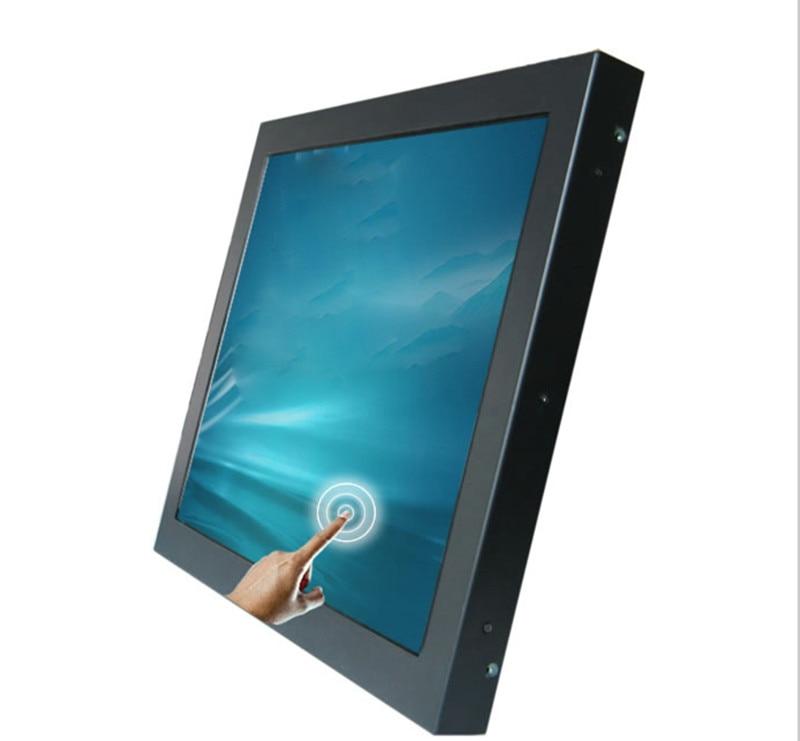 15 inch industrial lcd monitor with signal input of VGA/DVI/HMI/BNC/AV/DPI/CVI/AHD