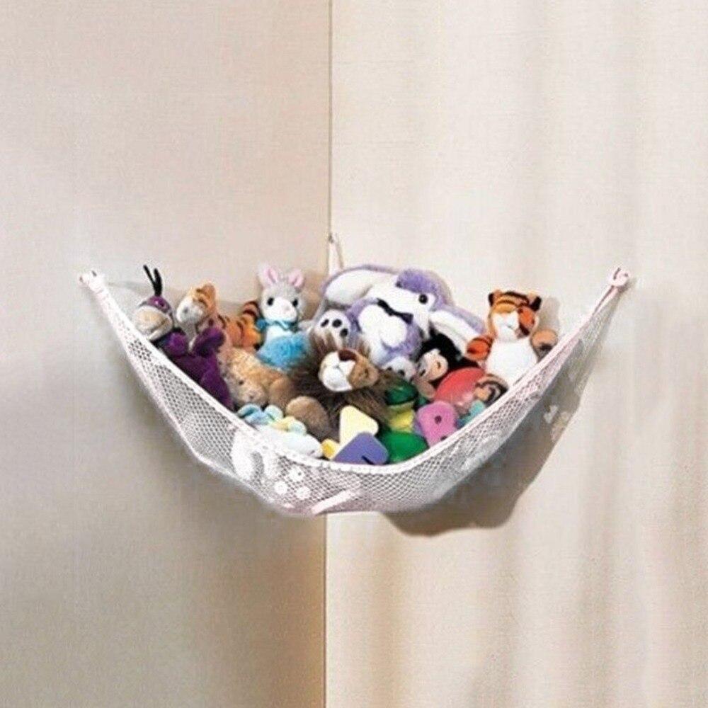 Hamaca de bebé de 130x66x66 cm, hamaca de red de juguete, muñecos de peluche, juguete colgante de almacenamiento, Poly Deluxe para mascotas, Columpio de esquina, hamaca de juguete para niños