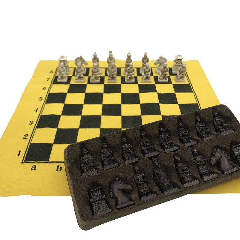 Хороший антикварный Шахматный набор из искусственной кожи шахматная доска Китай